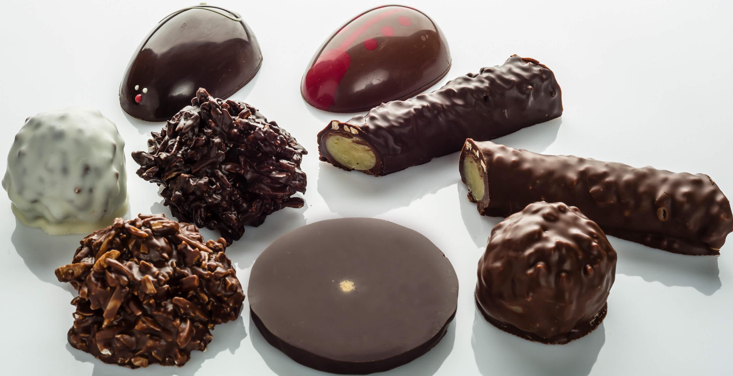 Bouchées de chocolat proposées en boutique